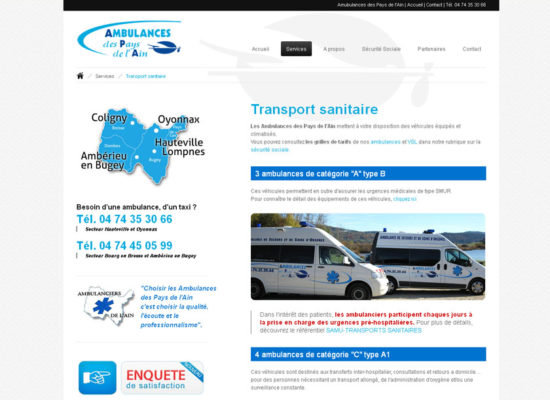 creation site internet ambulances-taxis-oyonnax-nantua
