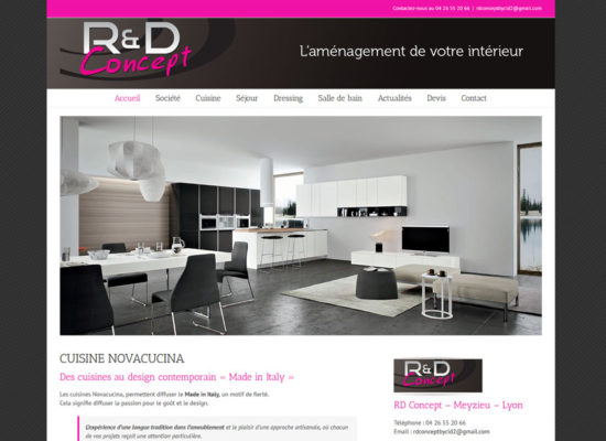 Creation site internet cuisiniste lyon