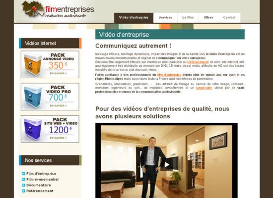 Webmaster freelance Lyon film entreprise