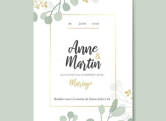Graphiste freelance création de faire-part mariage 2019