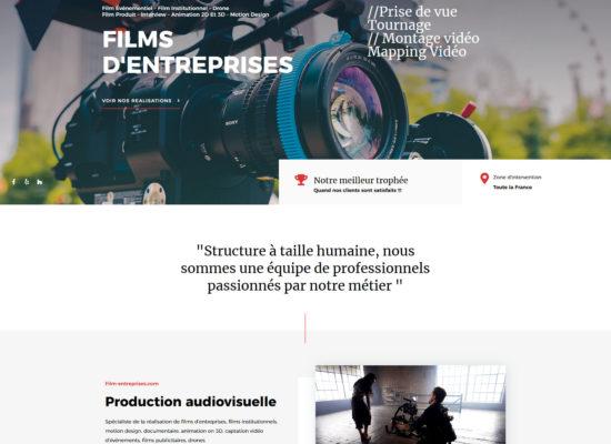 Film d'entreprises site web