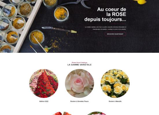Création de site internet - Webmaster pour un créateur de rose - Webdesign - Graphisme et photographie